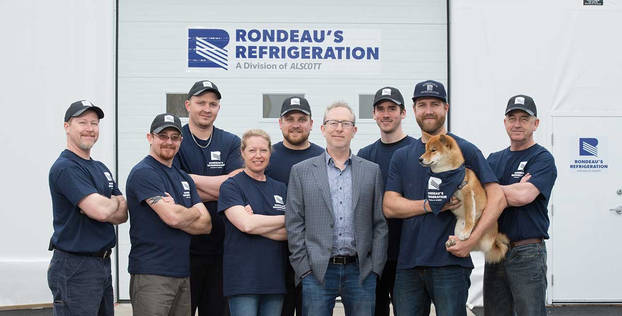 Team photo Rondeau's Refrigeration